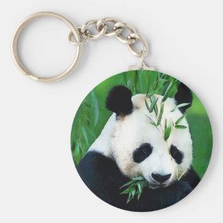 Panda Eating Leaves Key Chains