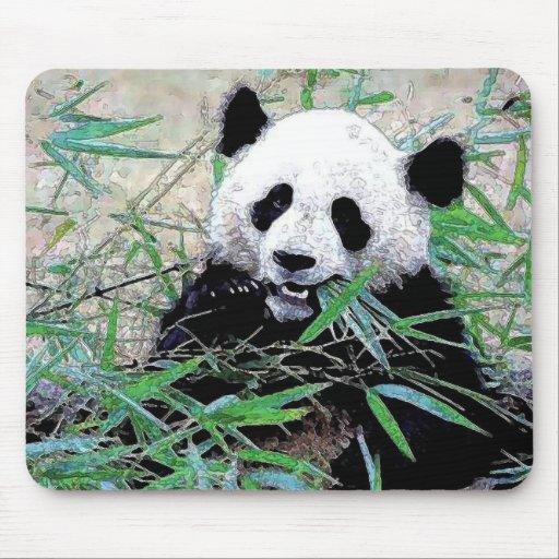 Panda Eating Leaves Mousepad