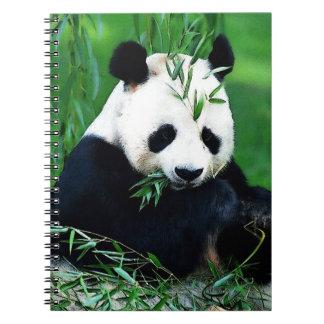 Panda Eating Leaves Notebook