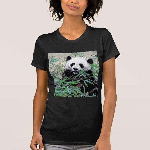 Panda Eating Leaves Tshirt