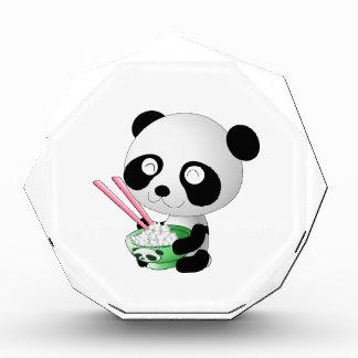 Panda eating rice cartoon acrylic award
