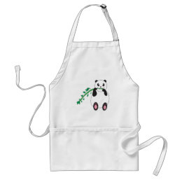 Panda Eats a Tasty Treat Adult Apron