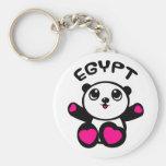 Panda Egipto de la panda Llaveros