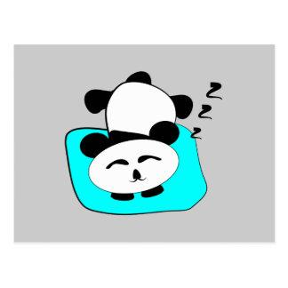 Panda el dormir postal