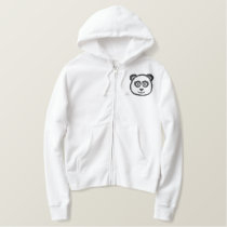 Panda Embroidered Hoody