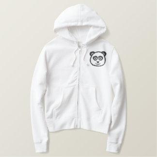 Panda Embroidered Hoody