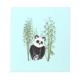 Panda en bambú libretas para notas