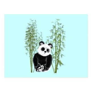 Panda en bambú tarjetas postales