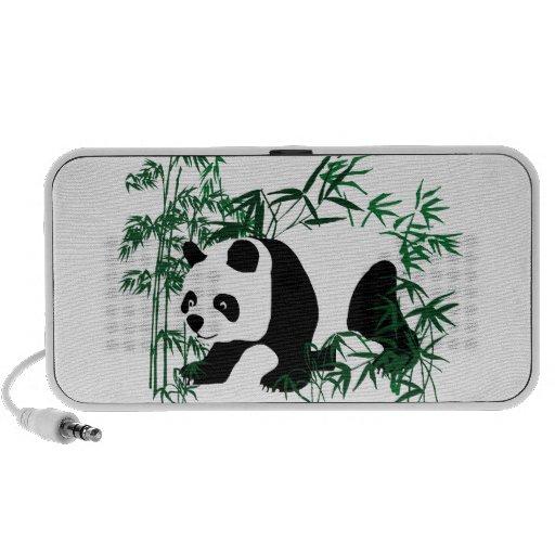 Panda en el bosque de bambú altavoces