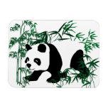 Panda en el bosque de bambú imanes rectangulares