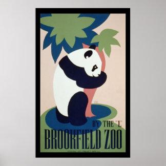 Panda en el parque zoológico - poster de WPA