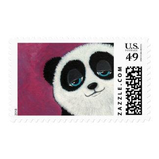 Panda en el rosa - franqueo medio