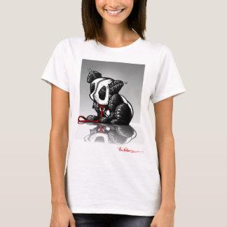 Panda en la camiseta del espejo