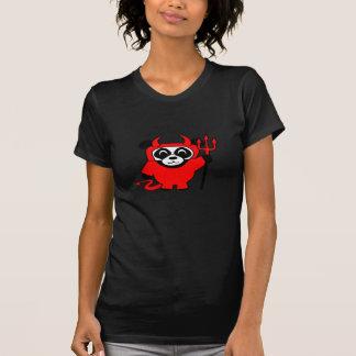 Panda en traje del diablo rojo camisetas