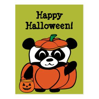 Panda en truco o la invitación del traje de la tarjetas postales