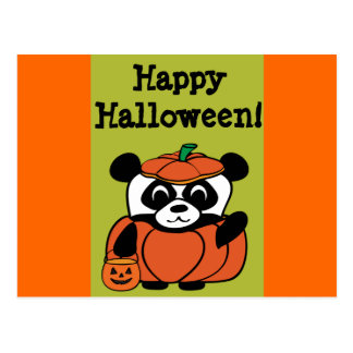 Panda en truco o la invitación del traje de la tarjeta postal