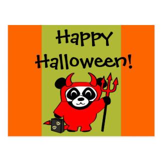 Panda en truco o la invitación del traje del postales