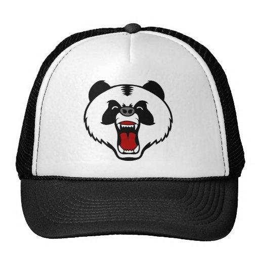 panda enojada bear.png gorro
