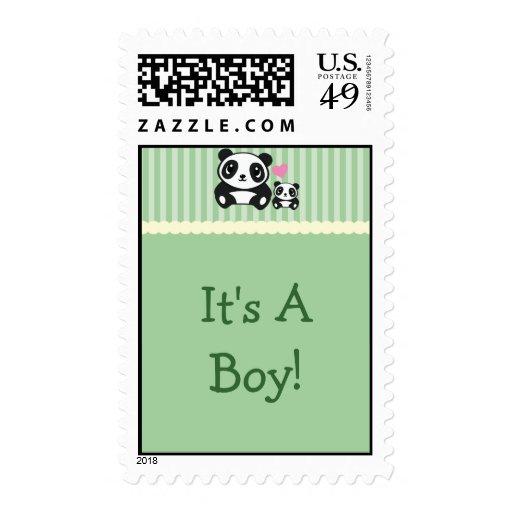 Panda es un sello del muchacho - verde