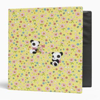 """Panda estimado 1,5"""" carpeta (amarillo de la"""