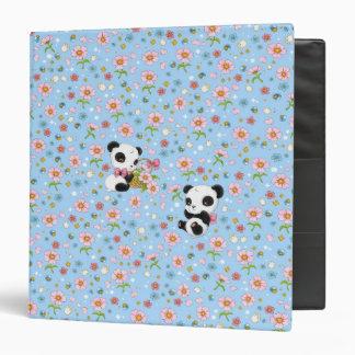 "Panda estimado 1,5"" carpeta (azules cielos)"