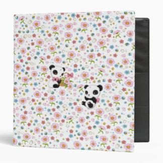 """Panda estimado 1,5"""" carpeta (blanca)"""