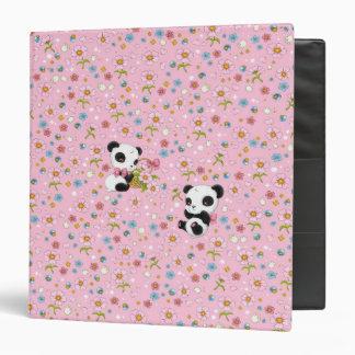 """Panda estimado 1,5"""" carpeta (rosa)"""