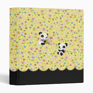 """Panda estimado 1"""" carpeta (amarillo de la"""