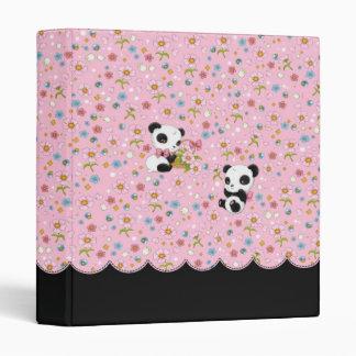 """Panda estimado 1"""" carpeta (rosa)"""