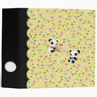 """Panda estimado 2"""" carpeta (amarillo de la"""