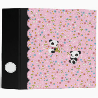 """Panda estimado 2"""" carpeta (rosa)"""