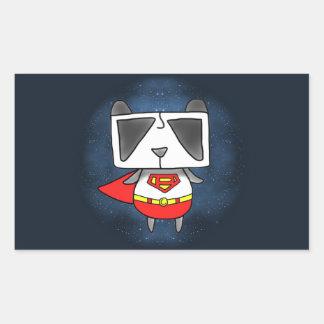 Panda estupenda pegatina rectangular
