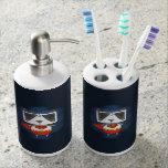Panda estupenda vaso para cepillos de dientes