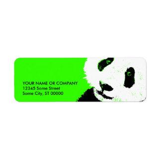panda. etiqueta de remite