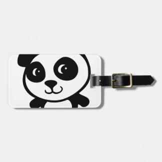 panda etiquetas para equipaje
