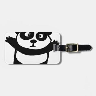 panda etiquetas de maletas