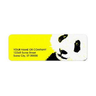 panda. etiquetas de remite