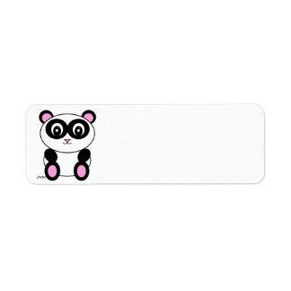 Panda Etiquetas De Remite