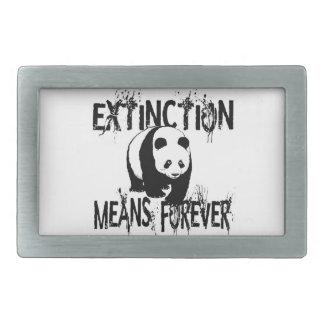Panda Extinction1 Rectangular Belt Buckle