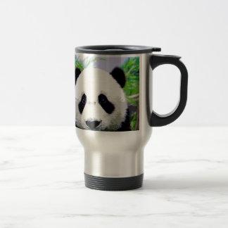 Panda Eyes 15 Oz Stainless Steel Travel Mug