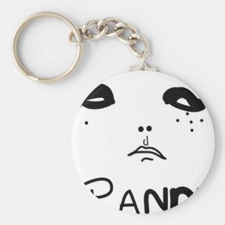 Panda Eyes Basic Round Button Keychain