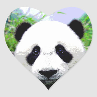 Panda Eyes Heart Sticker