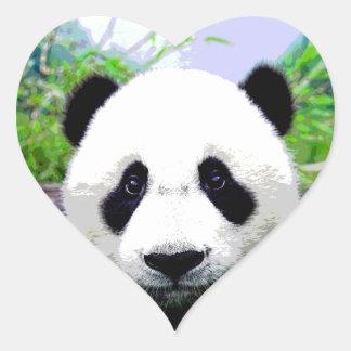 Panda Eyes Heart Sticker