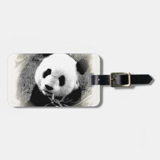 Panda Eyes Luggage Tag