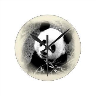 Panda Eyes Round Clock