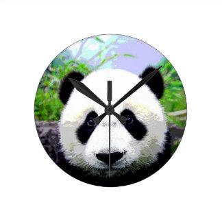 Panda Eyes Round Clocks