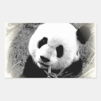 Panda Eyes Rectangular Sticker