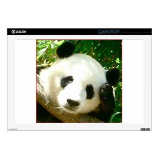 """Panda Face 17"""" Laptop Skins"""