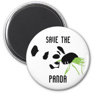 panda face 2 inch round magnet