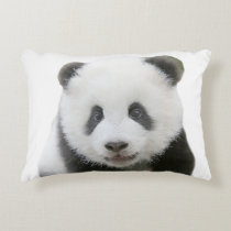 Panda Face Accent Pillow